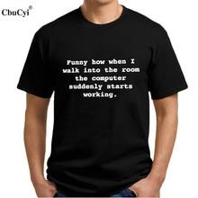 Geek IT Computer T shirt Funny Programmer  T-shirt Black White Coder Text Printed tshirt Men Fashion Tops