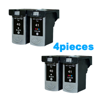 4Pcs/2 Sets Compatible ink cartridges For Canon PG40 CL41 PG 40 CL 41 iP1600 / IP1700 / IP1800 MP140 MP450 MP470 printer