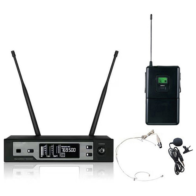 Top Quality Ture Diversity SKM9100 UHF Wireless Microphone System Lavalier Mic For outdoor perform bar show concert