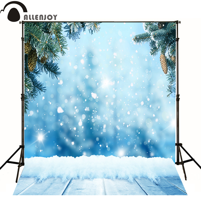 Alle joy photographic background snowflake winter wood tree snow baby cute photocall thin vinyl Christmas party