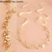 Shiny Crystal Hair Vine Bridal Jewelry Charming Flower Bridal Headpieces Wedding Hair Accessories Free Shipping