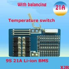 9 S 21A липолитиевый полимер BMS/PCM/PCB плата защиты батареи для 9 Упаковок 18650 литий-ионная батарея сотового w/баланс