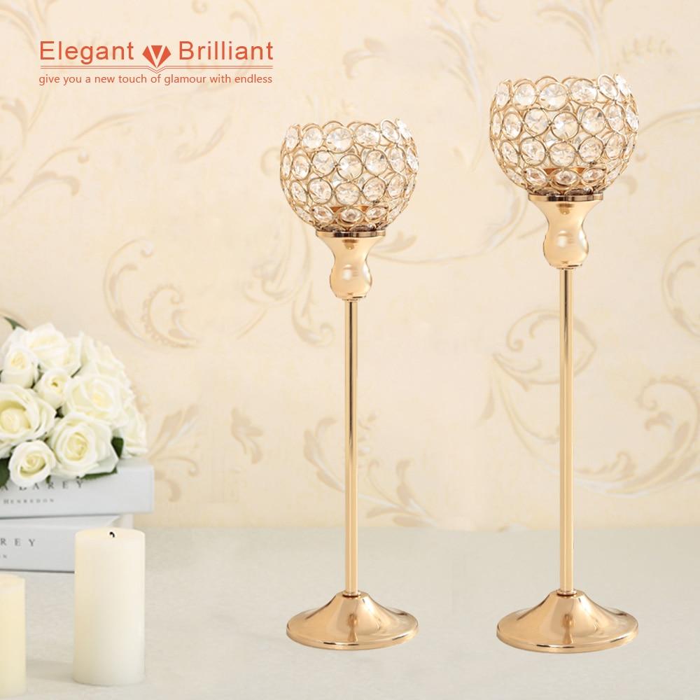 10 Set Wedding Decoration Crystal Tealight Candle Holders ...