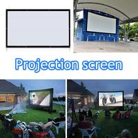 Cewaal Portable HD 60 inch 4:3 Foldable High Quality Fiber Canvas Projection Screen for Home Film Theater Projectors Display