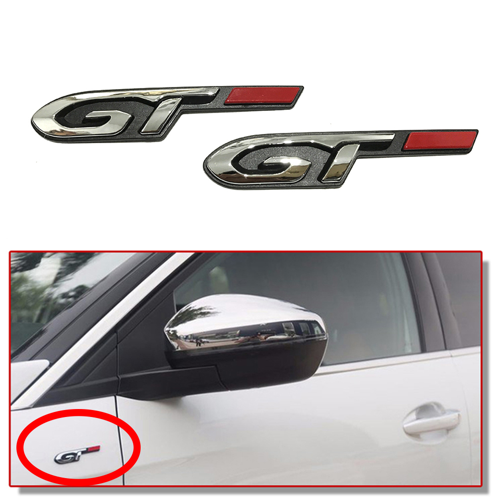 1-10 Pcs Auto Tuning Auto Side Taille Deur Kofferbak Insignia Decor Sticker Voor Peugeot 5008 307 308 407 207 206 4008 Rcz Gt Line Logo Uitstekende Kwaliteit