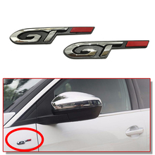 цена на 1-10 pcs Car Tuning Auto Side Waist Door Trunk Insignia Decor Sticker For Peugeot 5008 307 308 407 207 206 4008 RCZ GT Line Logo