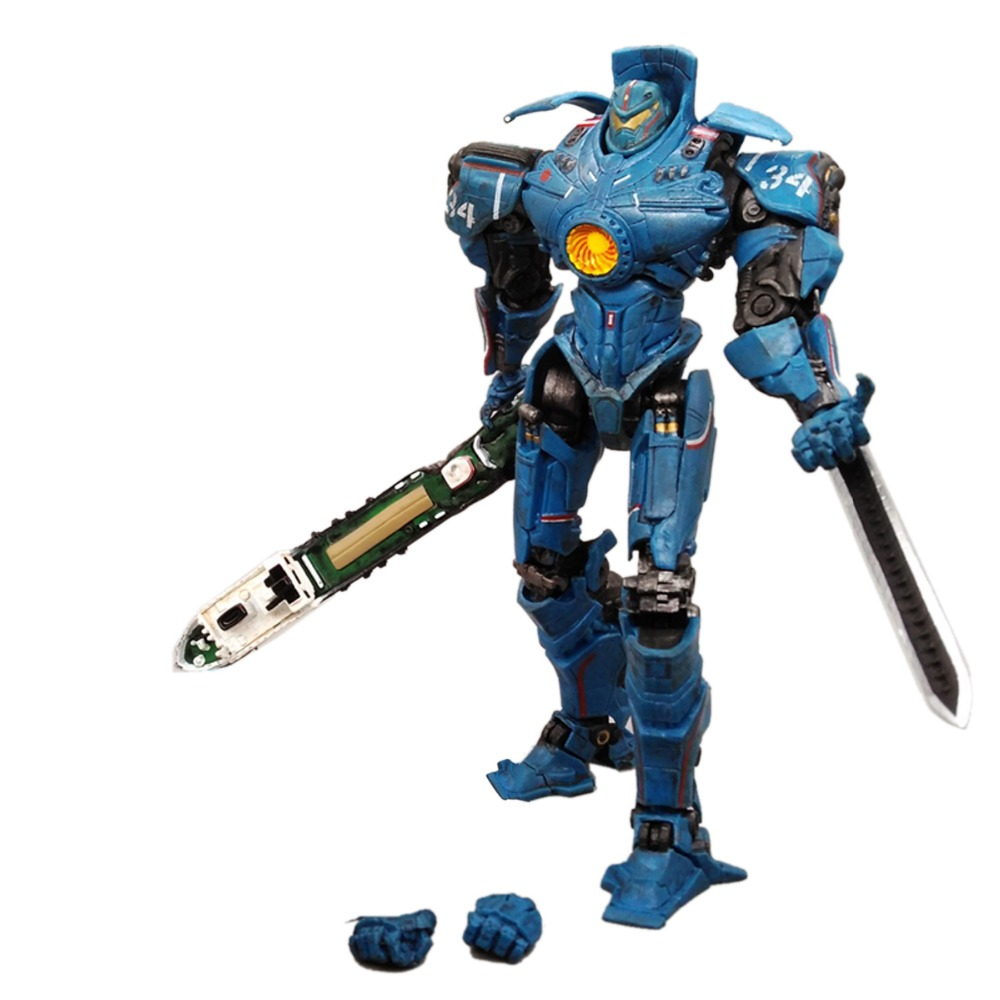 NECA Pacific Rim Jaeger Gipsy Danger Hong Kong Brawl 7 Figure Free Shipping neca pacific rim jaeger striker eureka pvc action figure collectible model toy 7 18cm