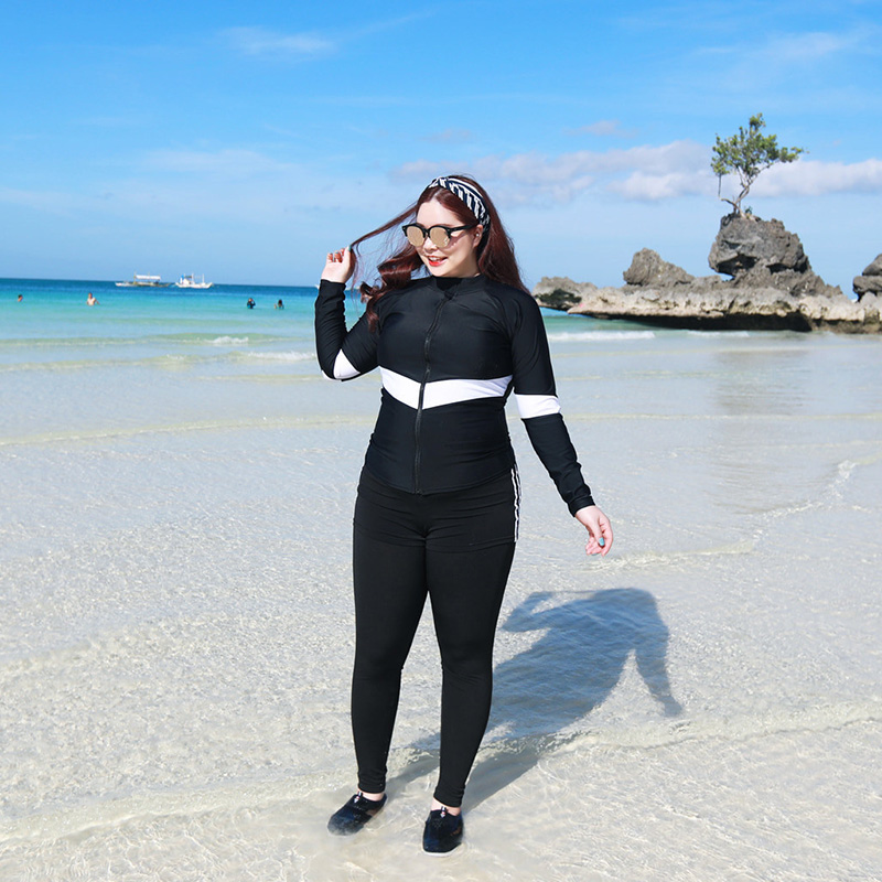 Rhyme Lady woman six pieces plus size long sleeve swimwear Rash Guard Used For Swimming And