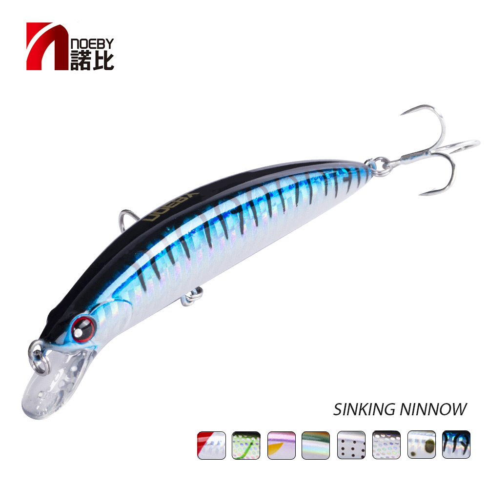 NOEBY Sinking Minnow ABS Lure 90mm/29g Bass Pike Walleye Trout Plastic Fishing Wobbler Hard Baits Swimbaits Artificial Lure Sea-in Fishing Lures from Sports & Entertainment