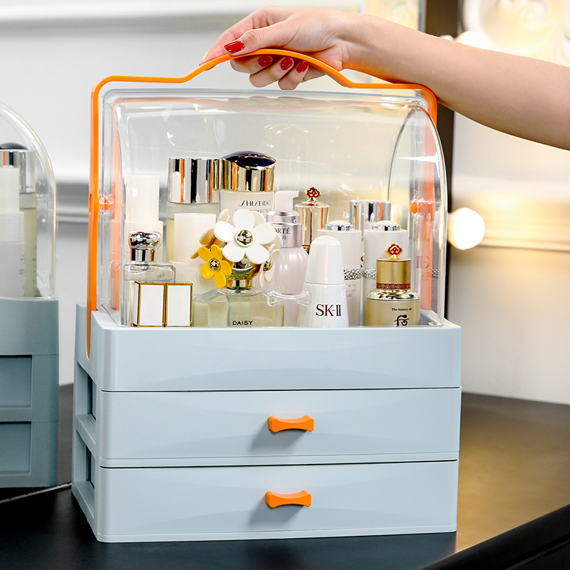 Detail Feedback Questions About ANFEI New Arrival Blue Makeup Cosmetic  Storage Drawers White Pink Plastic Cosmetick Makeup Organizer With Drawers  And Lids ...