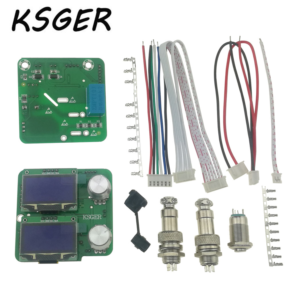 KSGER 2 IN 1 Hot Air Gun STM32 OLED DIY Electric Soldering Irons Rewrok Temperature Soldering