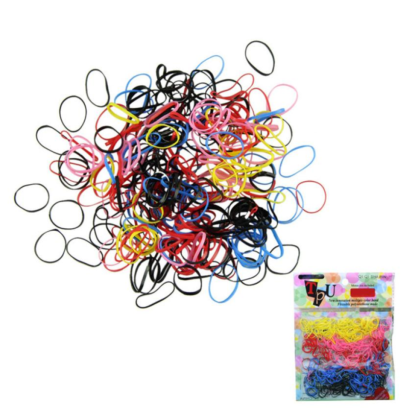 Free shipping 250-300pcs/lot Rubber Hairband Rope Ponytail Holder Elastic Hair Band Ties Braids Plaits (MIX4) m30