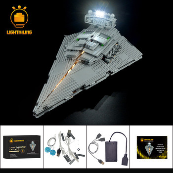LIGHTAILING LED Light Kit For Star War Imperial Super Star Destroyer Lighting Set Compatible With 75055 (NOT Include The Model) lepin 05062 1359pcs series the imperial super star destroyer set building blocks bricks compatible with 75055 boy toy