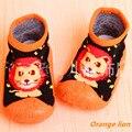 2 Par/lote Zapatos Inferiores Suaves Del Niño Del Bebé Bebé Calcetines Con Suela De Goma Calcetines Del Bebé Recién Nacido Ws9171