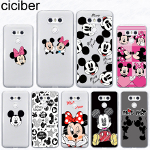 ciciber For LG G7 G6 G5 G4 V40 V35 V30 V20 THINQ Soft Phone Cute Mickey Mouse Case For LG K8 K10 K4 2017 2018 K9 K11 Plus Fundas
