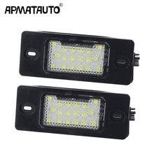 2pcs white LED Number License Plate LED Light Lamp For Porsche Cayenne VW GOLF 5 Touareg Triple Canbus Auto Tail Lighting Source(China)