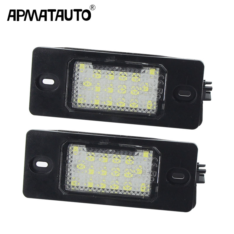 2pcs white <font><b>LED</b></font> Number License Plate <font><b>LED</b></font> Light Lamp For Porsche Cayenne <font><b>VW</b></font> GOLF 5 Touareg Triple <font><b>Canbus</b></font> Auto Tail Lighting Source image
