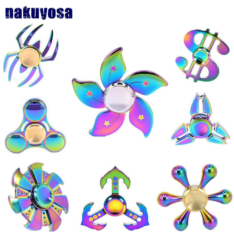 Colorful Finger Tri spinner 2017 Fidget Kid Gift Hand Spinner for Autism And ADHD Reduce Stress