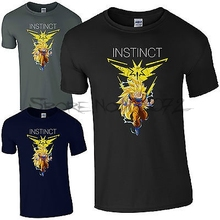 Super Saiyan Team Instinct T-Shirt – Pokemon GO Dragon Ball Goku Gift Mens Top