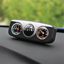 hot deal buy 3 in1 guide ball auto boat vehicles navigation compass thermometer hygrometer decoration ornaments car interior accessories