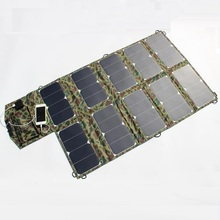 Hot 2PCS/Lot Wide Compatibility 64W Sunpower Foldable Solar Charger for Laptop/Cell Phone DC21V+Dual USB Output High Efficiency