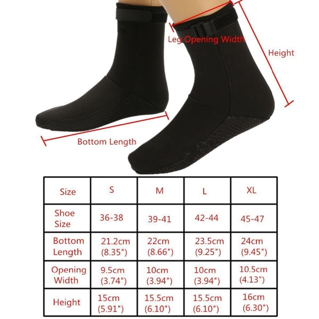 3mm Neoprene Diving Socks Non-slip Beach Boots Wetsuit Shoes Snorkeling Diving Surfing  6