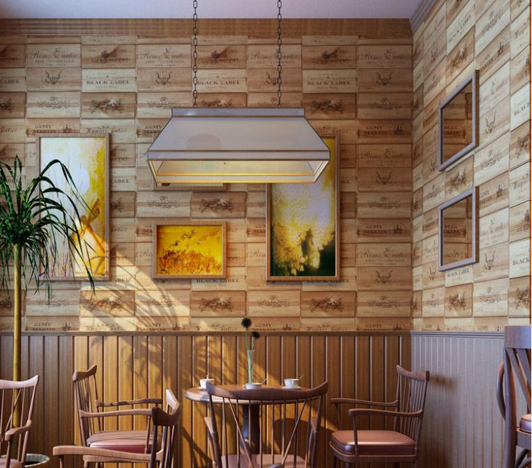 caja de madera de vinilo del pvc wallpaper d efecto decoracin retro corcho vino a cuadros