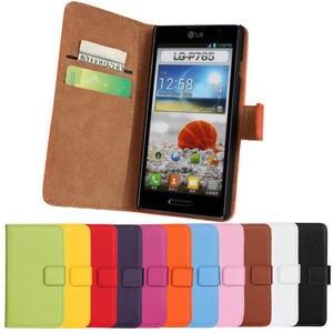 Para lg optimus l9 caso p760 p765 p769 flip split couro telefone protetor manga cartões com suporte capa casos 760 lgl9 lg760
