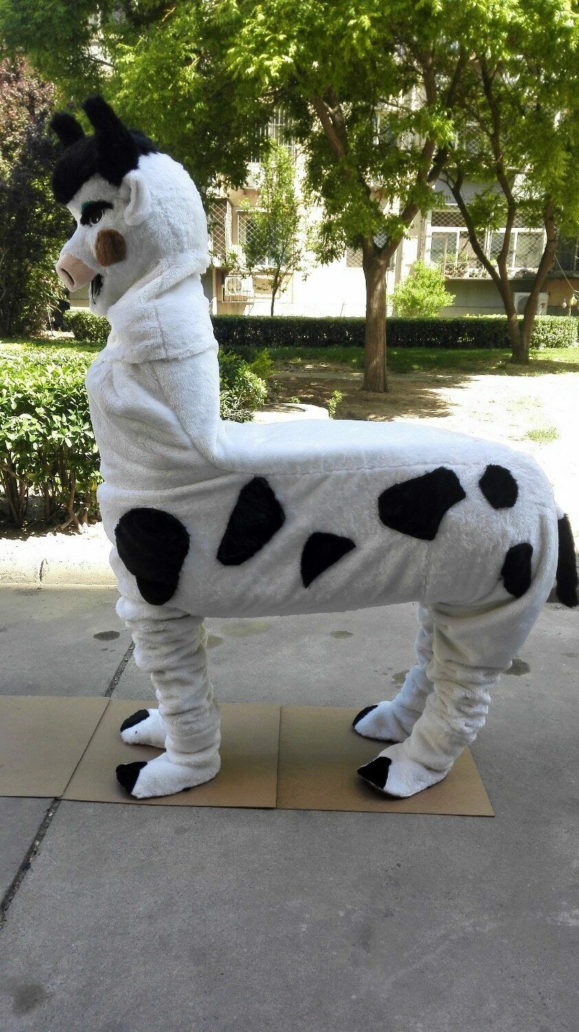 Cow Mascot Costume Suits Cosplay Party Game Dress Outfits Clothing Advertising Carnival Halloween Xmas Easter Festival Adults