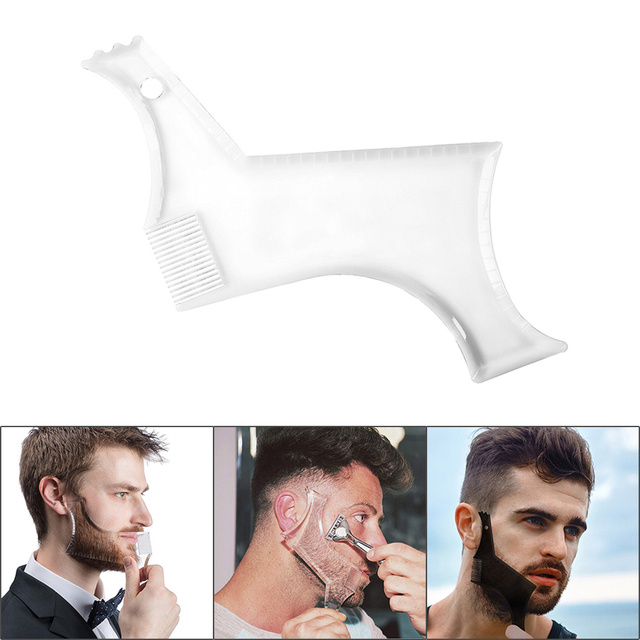 Hot Sale 1 Pcs Symmetry Trimming Beard Shaper Styling Shaping Template Comb Barber Tool NShopping 1