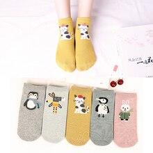 5Pairs New Arrivl Women Cotton Socks Pink Cute Cat Ankle Socks Short  Socks Casual Animal Ear Red Heart Gril Socks 35-40