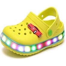 Світильник дзеркальний світлодіодний Запалене літнє пляжне взуття Sandals Walking тапочки Для дітей Дівчата Хлопчики (Малюк / Маленький малюк), Тапочка Світло 24-35
