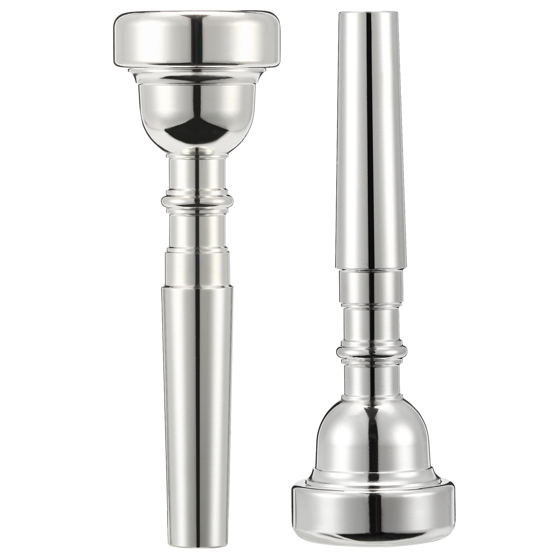Missmore Silver Trumpet Mouthpiece 3C 5C 7C Size Instrument Accessory for Bach 3C-Silver