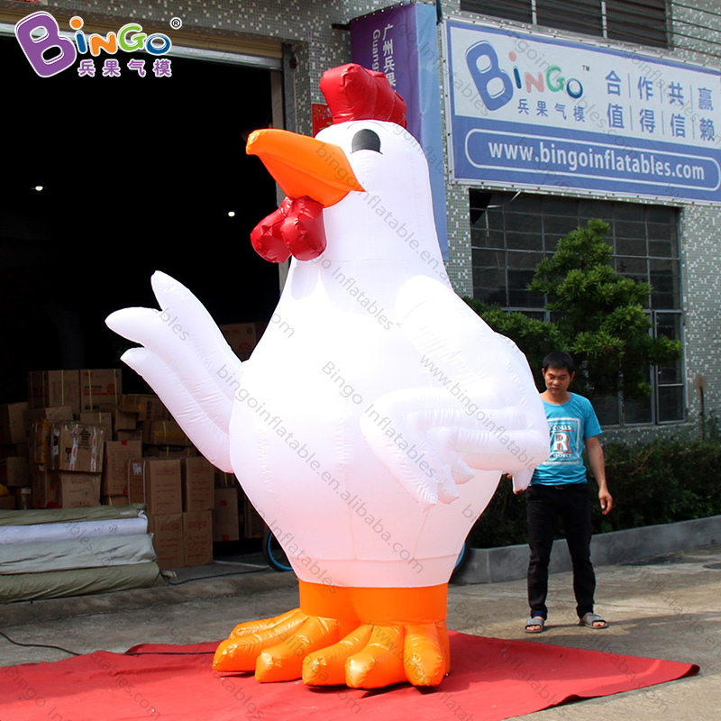 PVC durable inflatable chicken balloon 3m high for promotion advertising-inflatable toy