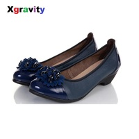 New Summer Autumn Flower Desgi Lady High Heel Shoes Round Toe Casual Woman Shoes Simple Butterfly