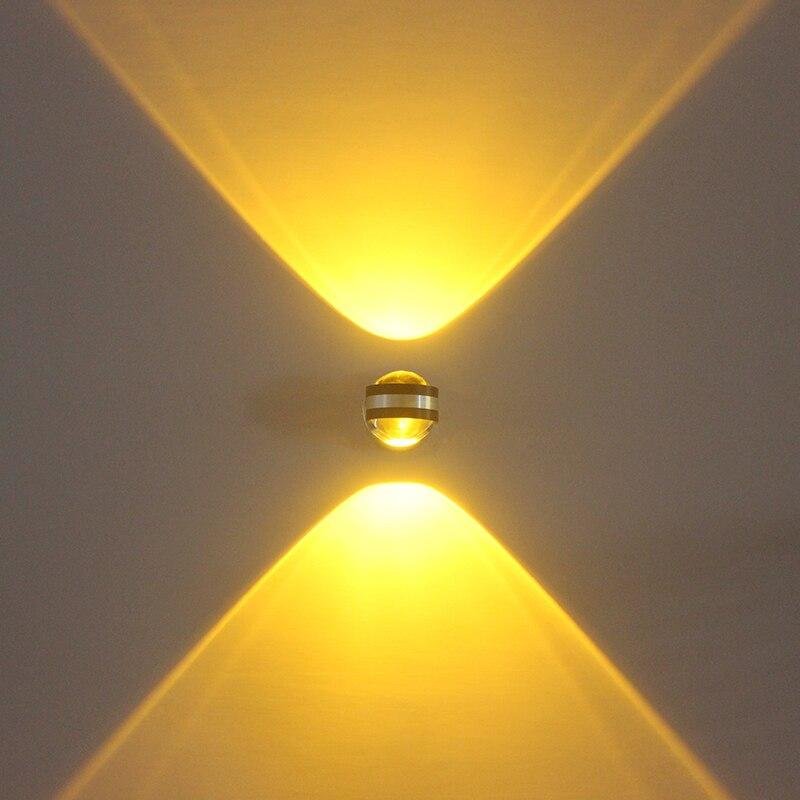 360 Degrees Rotation 2W 6W LED Crystal Night Light Indoor Art TV Background Decoration Lamp Bedroom Mirror Lighting