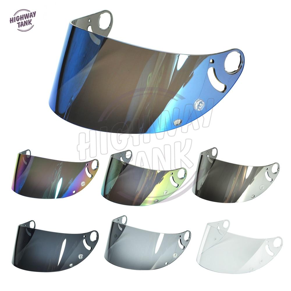 Բարձրորակ Iridium Gole Blue Smoke Motorcycle- ի ամբողջ դեմքի սաղավարտ Visor ոսպնյակների պատյան SHARK RS2 RSR 2 Carbon RSR 2 V + RSX VZ32