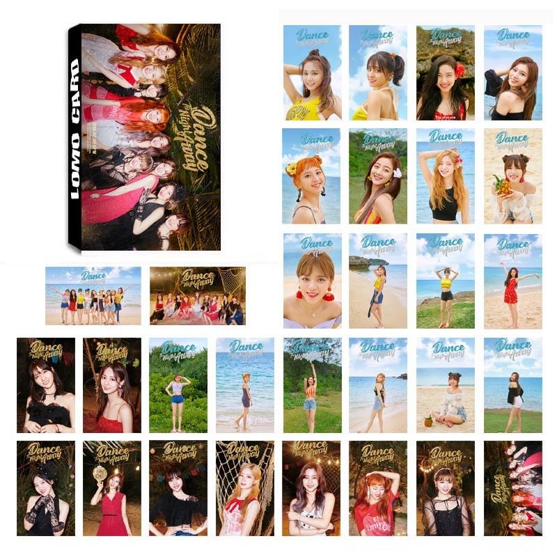 30Pcs/Set KPOP TWICE Album Lomo Cards New Fashion Photo Card  Postcard Kawaii Stationery Gift