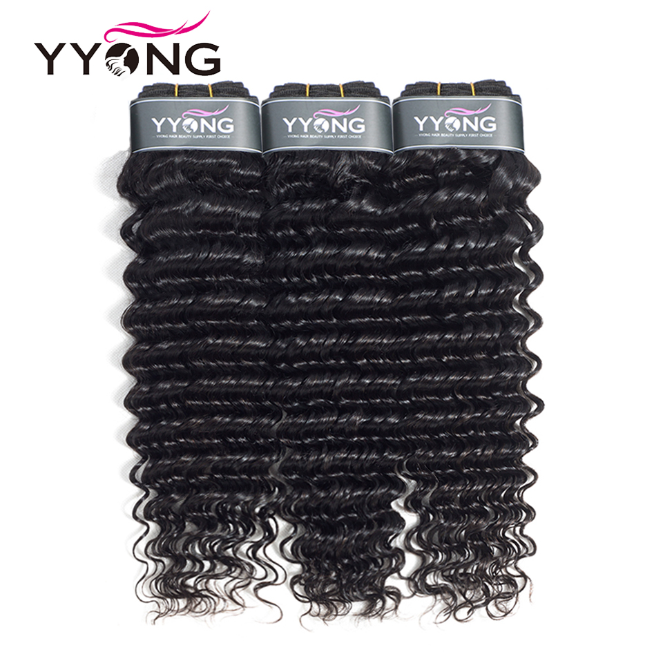 Yyong Hair 3 Bundle Deals Brazilian Deep Wave Hair Extensions 8 26 Inch Can Be Dyed