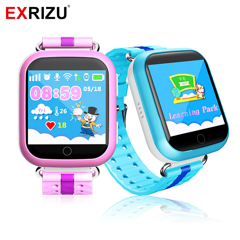 EXRIZU Q750 GPS Smart Watch Baby Smartwatch with Wifi LBS 1.54 inch Touch Screen SOS Call Location Device Tracker for Kids Safe