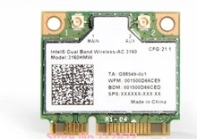 SSEA New Card for Intel Dual Band Wireless AC 3160 3160HMW 802.11ac Wifi + Bluetooth 4.0 Half Mini PCI-E 2.4G/5Ghz 433 Mbps