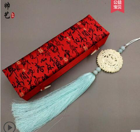 Chinese knot ancient wind jade car hanging Chinese characteristics gifts Handmade braided waist waist