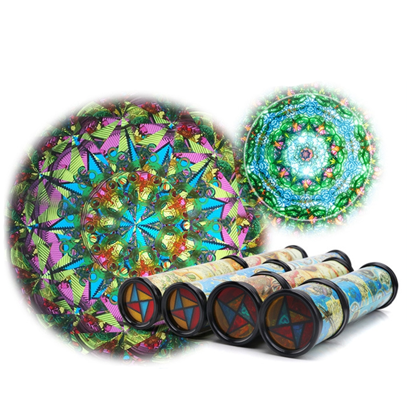 21cm Rotation Cute Classic Colorful Kaleidoscope Kids Fancy Early Childhood Toys For Baby Children Developmental Toy Gift