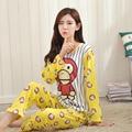 New 2016 spring autumn long sleeved pajamas set for women modal thin silk pajamas Home Furnishing clothing free shipping