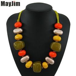 Bohemian Statement necklace fashion for women 2018 long collar big chain bib chocker chunky necklaces & pendants Jewelry MayJim
