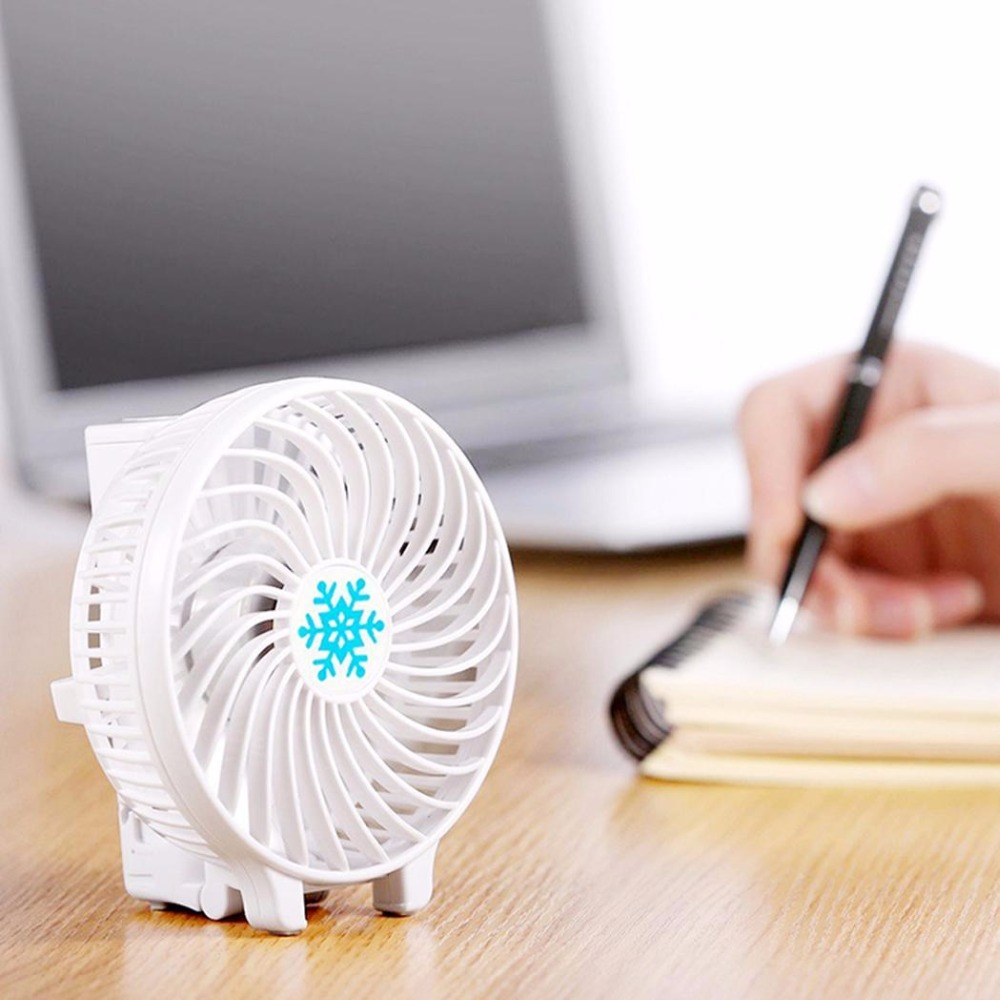 AIFFECT USB Power Supply Cooling Fan Ventilation Foldable Air Conditioning Cooler without 18650 Battery Rechargeable