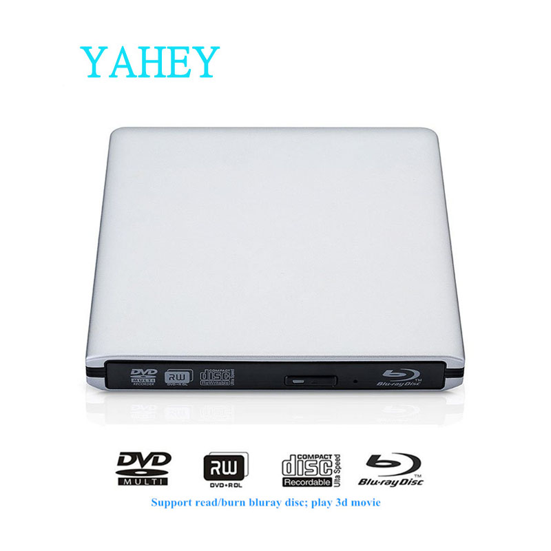 USB 3.0 Bluray Drive BD-RE deglis Ārējais DVD-RW / RAM rakstītājs Blu-ray CD / DVD-ROM 3D atskaņotājs Superdrive klēpjdatoriem Apple Macbook PC