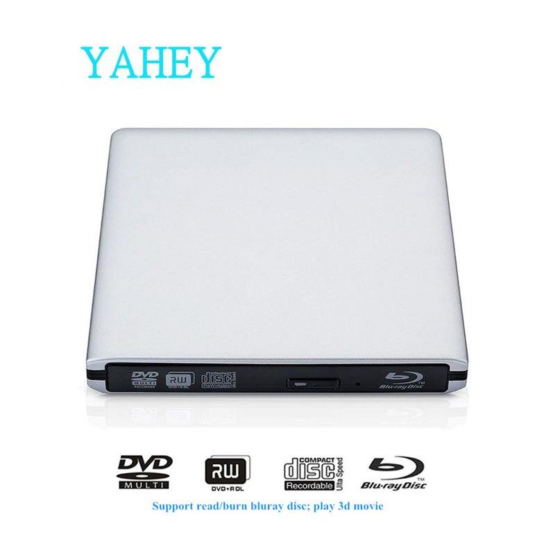 USB 3.0 Unità Bluray Masterizzatore Esterno BD-RE DVD-RW/RAM Writer Blu-Ray CD/DVD-ROM 3D Lettore Superdrive per il Computer Portatile apple Macbook PC