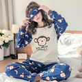 New Listing 2017 Leisure Cotton Loungewear Pyjamas women Clothing SleeveTops Long Set ladies Pyjamas Sets Night Suit Sleepwear