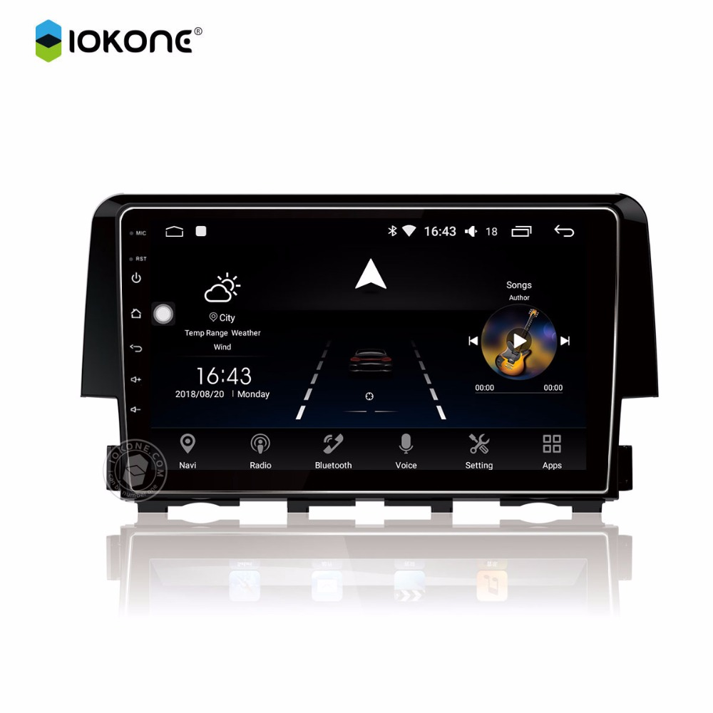 IOKONE Car android 8 0 multimedia player 8 core DVD radio stereo 2 din font b